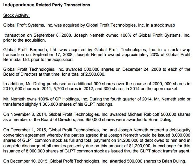 GLPT transakce