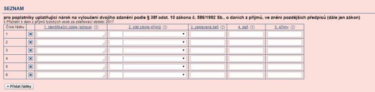zdanění formulář14