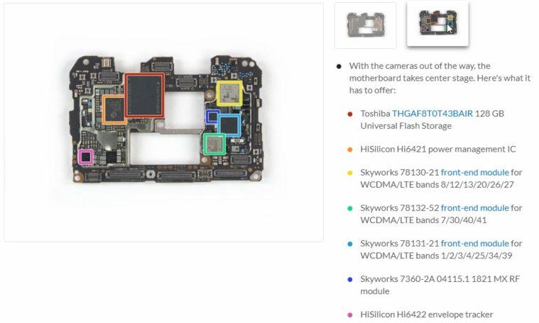 Huawei Mate 20 Pro komponenty